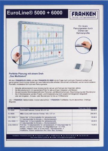 Preisvergleich Produktbild Franken magnethaftender Dokumentenhalter, ITSA4M 03, DIN A4, blau