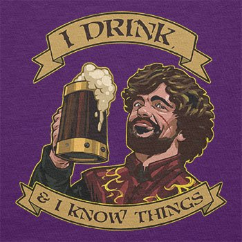 TEXLAB - I drink, and I know things - Herren T-Shirt Violett