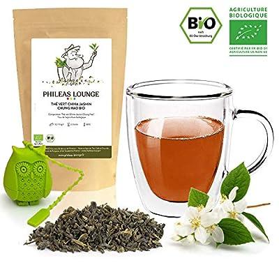 Thé vert Jasmin Chung Hao Bio - Thé Vert Jasmin Premium biologique -250g - Infuseur Chouette offert