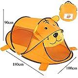 JESSIEKERVIN YY3 Kinderzelt Indoor Baby Cartoon Bär Spiel Haus Schlafzimmer Sommer Moskitonetz Spielen (Color : Orange)