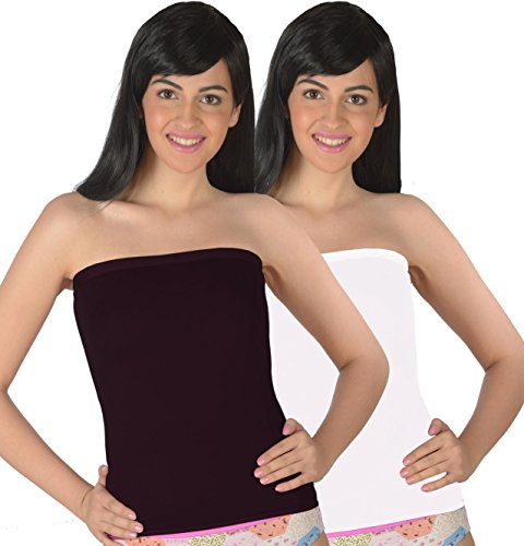 Selfcare Women's Strapless Tube Camisoles (Pack Of 2)