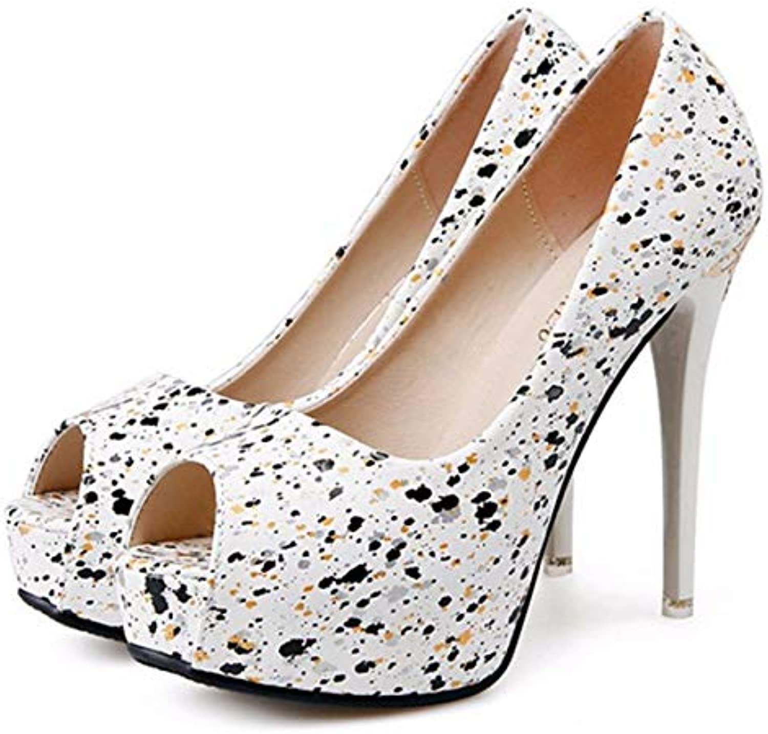 ddf85fb2b9d GTVERNH GTVERNH GTVERNH Women s shoes fashion Spring And Summer Super High  Heel 12Cm Fine With Fish Mouth Single Shoe Shallow... B07G666GRJ Parent  4b1ea0