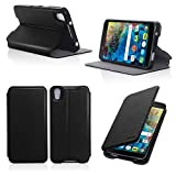 Etui luxe Alcatel Onetouch Idol 4 5.2 pouces noir Slim Cuir Style avec stand - Housse...