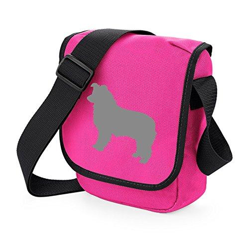 Bag Pixie - Borsa a tracolla unisex adulti Grey Dog Pink Bag
