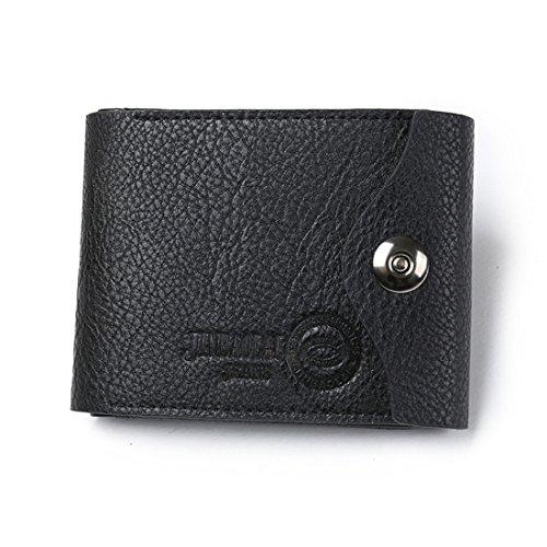 Geldbörsen Herren | Leder Geldbörse | Wallet | Portemonnaie | Brieftasche | Portmonee | Geldbeutel | Vintage Geldsack | Kartenhalter | Kartenetui | Geldklammer von JINBAILAI (Schwarz) Schwarz