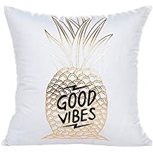 Sky Funda de cojín de almohada, Gold Foil Impresión Sofa almohada de la caja de la cintura Cojín Cojín Cover Home Decor 45cmX45cm (H)
