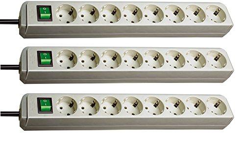 Regleta para 6 enchufes Brennenstuhl Eco-Line con interruptor (1,5m)