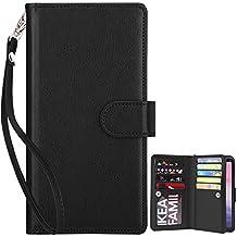 Custodia Note 8,Dailylux Custodia Galaxy Note 8,Portafoglio Protettiva in pelle Bookstyle Flip Custodia di Pelle Case Flip per Samsung Galaxy Note 8-Black