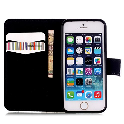"iPhone 6 Plus/6S Plus (5.5"") Hülle im Bookstyle, Xf-fly® PU Leder Flip Wallet Case Cover Schutzhülle für Apple iPhone 6 Plus/6S Plus (5.5 Zoll) Tasche Handytasche Schutz Etui Schale Handyhülle P-9"