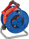 Brennenstuhl 1218370 Garant - Carrete alargador de cable (25 m, AT-N07V3V3-F 3G1,5, IP 44)
