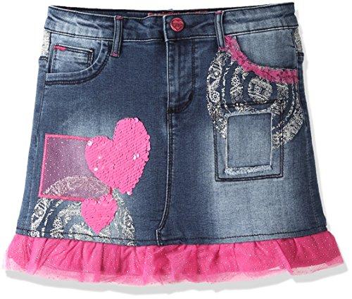 Desigual Fal_Gargalla, Gonna Bambina, Blu (Jeans), 12 Anni (Taglia Produttore: 13/14)