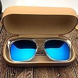 KLXEB Sonnenbrillen, Sonnenbrillen, Anti UV-Brille und Sonnenschutz Gläser Im Sommer, Blau