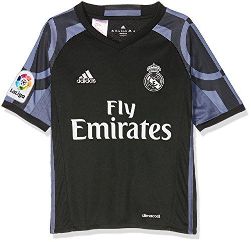 adidas 3 JSY Y Camiseta 3ª Equipación Real Madrid CF 2015/2016, Niños, Negro/Morado, 15-16 años