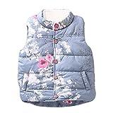 Hunpta Floral Graffiti Kinder Jacken Baby-Prinzessin Mädchen warme Weste Kleidung (80, Multicolor)