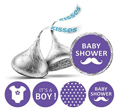 Darling Souvenir-Süßigkeit Bevorzugungs-Babyparty-Party-Thema-Aufkleber für Hershey Kisses 190 Stück-Lila