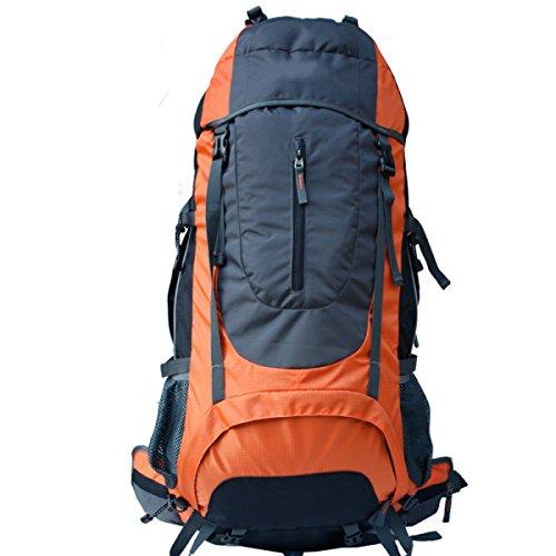 LAIDAYE Außentasche Bergsteigen Taschen Bulk Taschen Reisetaschen Sporttasche Tasche Schulter Orange