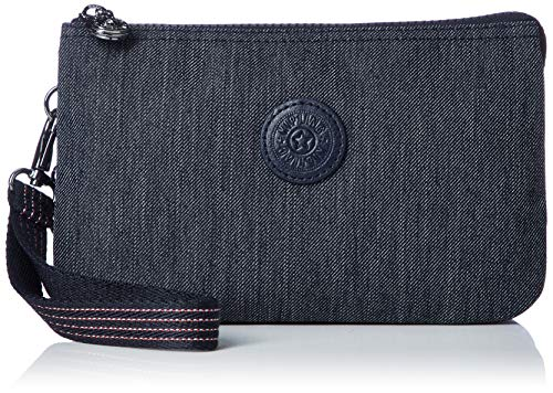 Kipling Damen CREATIVITY XL Münzbörse, Blau (Active Denim), 21.5x13.5x4 cm