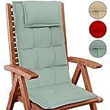 Beo bs10 coussin de chaise dossier haut 48 x 115 cm - Coussin pour fauteuil de jardin haut dossier ...
