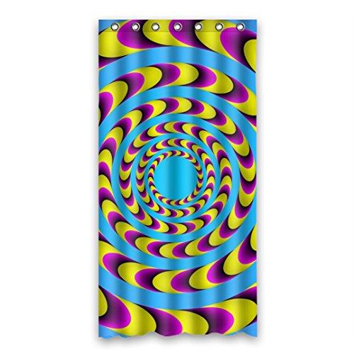 Dalliy Brauch Illusion-Farbe Wasserdicht Polyester Shower curtain Duschvorhang 90cm x 183cm (Peach Farbe Duschvorhang)