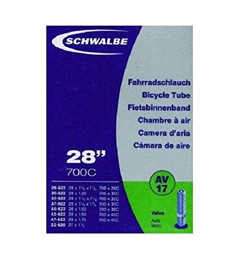 Schwalbe Fahrradschlauch 700 x AV17 28-45 28-622 B, C (47-622)