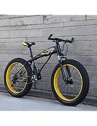 WN-PZF Bicicleta de 27 velocidades, Estudiante Adulto, Deportes al Aire Libre, Bicicleta de montaña, Bicicleta de Nieve, Ruedas ensanchadas de 4 Pulgadas + Sistema de Freno de Disco