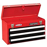Craftsman 3-Drawer Metal Portable Chest Toolbox Red by Craftsman