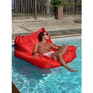 SOLDES - Sit in Pool Rouge - Pouf flottant d'intérieur et d'extérieur