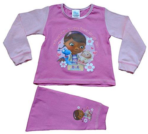 Disney Doc McStuffin Schlafanzug für Kinder, 1bis 5Jahre Gr. 4-5 Jahre, rose