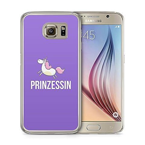 Einhorn Prinzessin Lila - Handy Hülle für Samsung Galaxy S6
