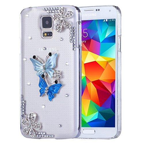 Schützen Sie Ihr Mobiltelefon Fevelove für Samsung Galaxy S5 / G900 Diamant verkrustete Sonnenblume Perle Bell Muster PC Schutzhülle Rückseite für Samsung Handy ( SKU : SAS1030B ) (Sonnenblumen-bell)