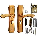 Cerradura de puerta, Manija de puerta de aleación de zinc Juego de palanca de puerta interior Cierre mecánico, Cerradura de seguridad para el hogar con llaves