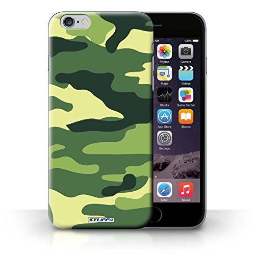 Kobalt Bianco 4 stampato Custodia Cover per iPhone 6+/Plus 5.5 cellulari telefoni / Collezione Camuffamento Army Navy Verde 2