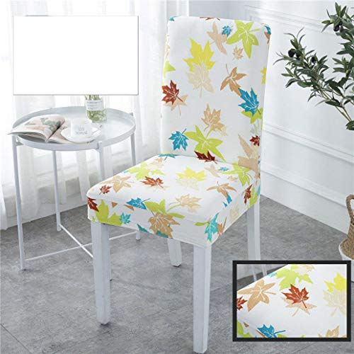 IKUMA Stuhlhussen aus weichem Spandex, Stretch, mit bedrucktem Muster, Abnehmbarer Bankett-Sitzschutz, Karte, 4 pcs Universal -