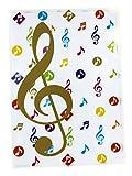 Aktenhülle A4 Notenschlüssel bunt - Schönes Geschenk für Musiker