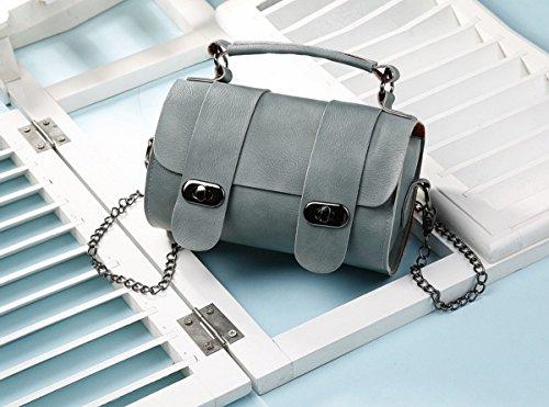 Eimer tasche handtasche Schulter Schräge Kreuz Die Kette der weiblichen einfachen mini-tasche Grau Grün