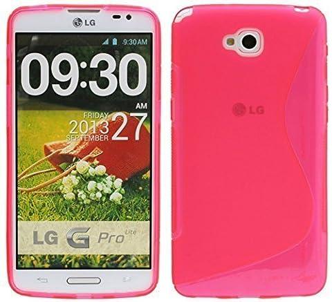 S-Line TPU SchutzHülle für LG G PRO LITE DUAL SIM D686 Silikon Hülle in Pink @ Energmix