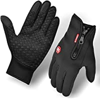 Cycling Gloves,BCMRUN Waterproof Windproof Anti-skid Touchscreen Adjustable Size Winter Outdoor Unisex Bike Gloves