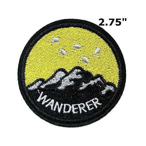 Anwendung X-Files NASA Space Programm Classic Wanderer Cosplay Badge gesticktes Eisen oder aufgesetzte Aufnäher Patch (Disney Im Tv Halloween-filme)