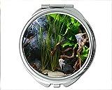 Yanteng Spiegel, Kompaktspiegel, Fischaugen-Thema des Taschenspiegels, tragbarer Spiegel 1 X 2X Vergrößerung