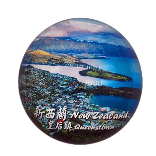 Queenstown New Zealand Kühlschrank Kühlschrank Magnet Stadt Welt Kristallglas Handgemachte Tourist Travel Souvenir Sammlung Geschenk Starke Wort Brief Aufkleber Kinder