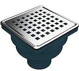 MERT Bodenablauf mit Edelstahlrost (304), 100x100 mm, Senkrecht