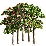 Unbekannt MagiDeal 5 Stk. Modell Baum für Landschaft Modellbau Modelleisenbahn - Rot