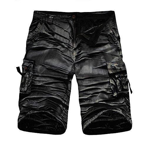 druck Kurzmänner Multi Pocket Shorts Männer Outdoor Sport Overalls Männer Casual Five Pants Männer Strand Shorts Herren Camouflage Druckhosen Herren Arbeitshosen ()