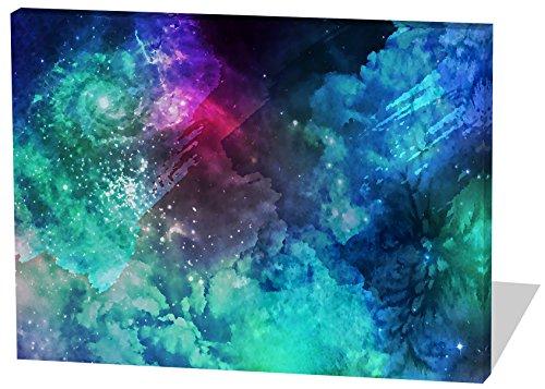 Das etwas andere Farbenspiel, Gemälde Effekt, schönes und hochwertiges Leinwandbild zum Aufhängen in XXL - 120cm x 80cm, echter Holzrahmen, effektiver Pigmentdruck, modernes Design für Ihr Büro oder Zimmer