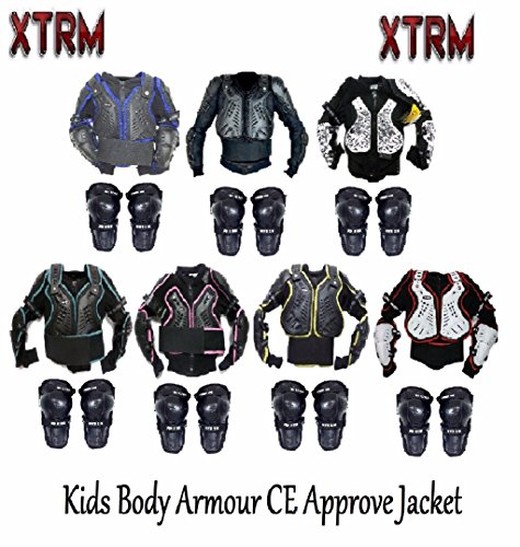 Knee Shin Guard MOTORBIKE KIDS BODY ARMOUR XTRM JUNIOR PROTECTION JACKET Motocross Quad MX Off-Road Cycling Riding Kart Racing Professional Sports CE Approve Full Body Deflector
