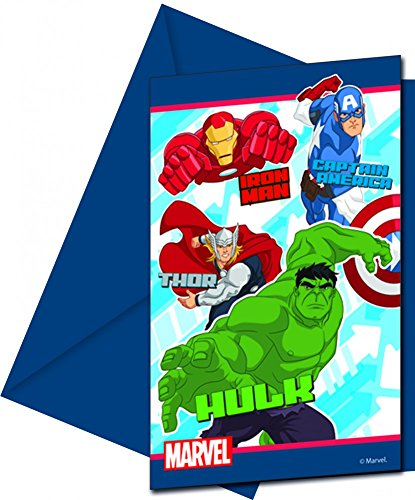 Marvel Procos S.A Avengers Party Einladungen (Pack von 6) (Marvels Avengers Party Supplies)