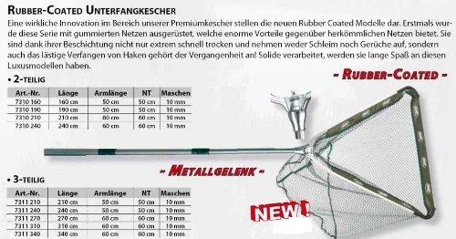 RUBBER - Coated Unterfangkescher Länge: 2,40m 3-teilig gummiert von SÄNGER / Specitec