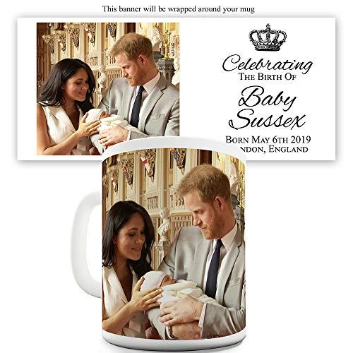 TWISTED ENVY Celebrating Baby Sussex Teetasse aus Keramik, Keramik, weiß, 11 OZ
