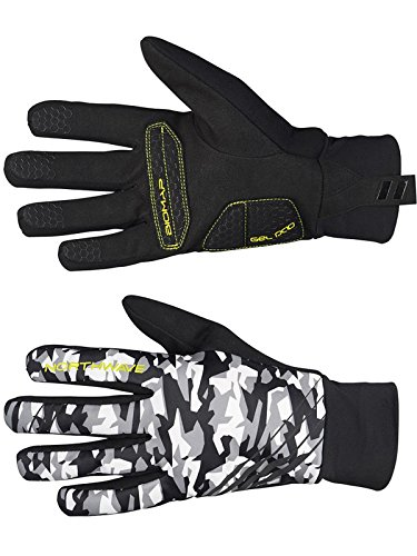 guanti northwave Guanti Mtb Northwave Power 2 Gel Pad Camo-Giallo Fluo (L