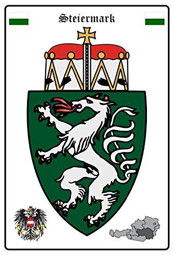 ComCard Steiermark Wappen Schild aus Blech tin Sign